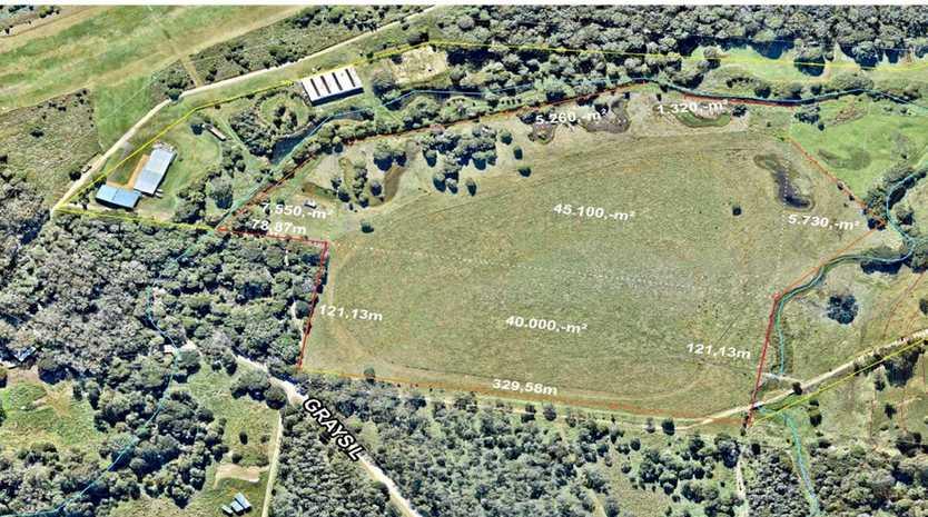 RENEWABLE ENERGY: Site of proposed solar farm at Grays Lane, Tyagarah.