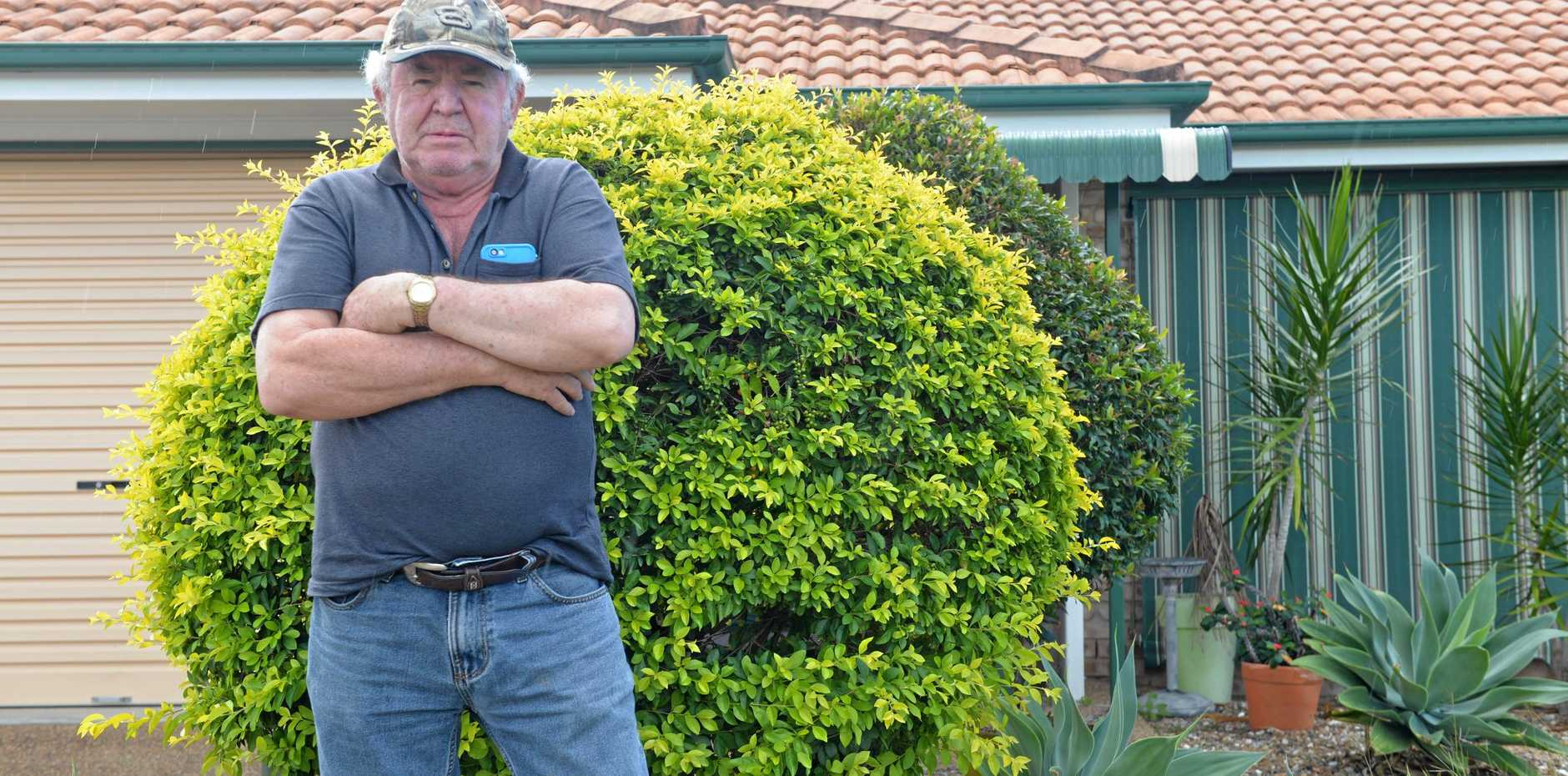 HOT WATER: Ronald Burton's frustrations are increasing as he wait for his home to be repaired after a leaking hot water system caused mould in his house.