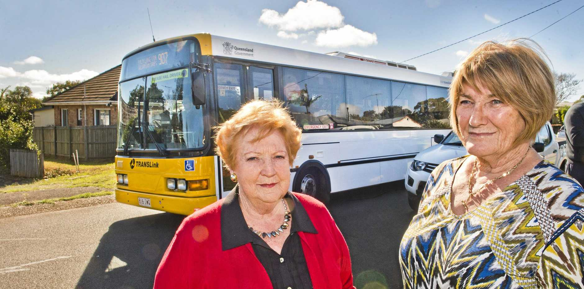 NOT HAPPY: Rosemary Morley (left) and Avondale St resident Bernice Reis want to see the 907 bus routed away from Avondale St.