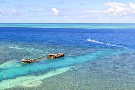 Heron Island sits just off the coast of Gladstone on the Southern Great Barrier Reef, accessible by a 30minute helicopter ride or 2 and a half hours by boat.