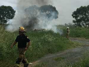 Car on fire near popular Mackay beach