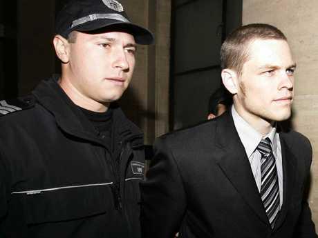 Australian Jock Palfreeman appearing in court in Sofia in 2008. Picture: Supplied