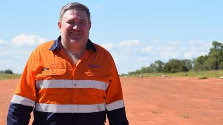 Adani Australia chief executive Lucas Dow says workers and construction equipment are on site at the company's Carmichael coal mine in the Galilee Basin and ready to go within days if the project gets the green light.