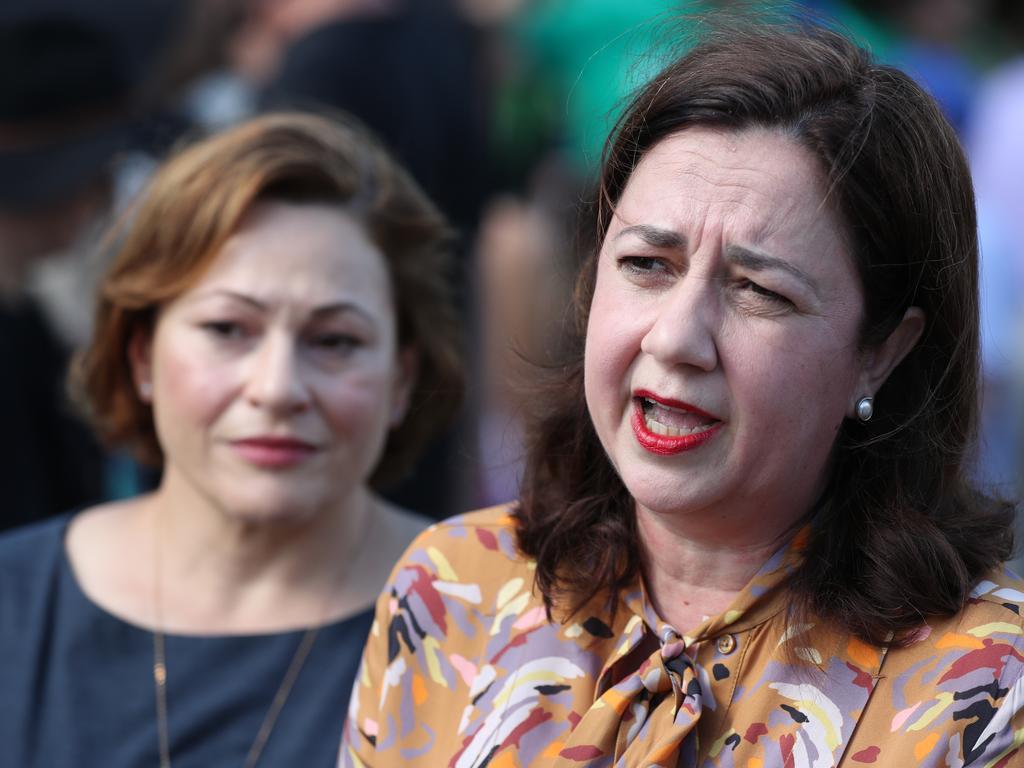 Premier Anastasia Palaszczuk and Jackie Trad visiting Paniyiri. Pic Peter Wallis