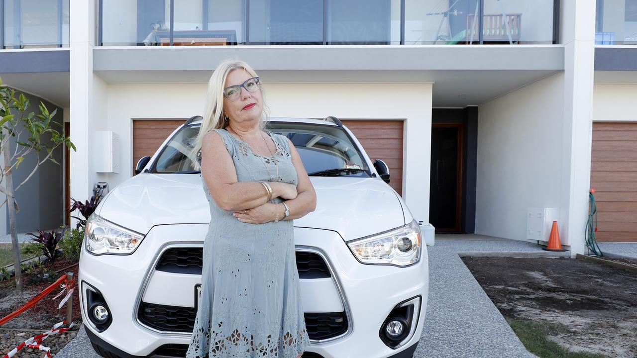 Hope Island woman Julie Valli said she has been forced to spend nights sleeping in her car after her $800,000 dream home was plagued with problems. Pic: Tim Marsden