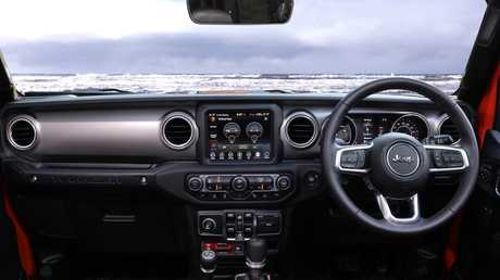 The Wrangler's interior gets a lot of extra kit compared to the previous version.