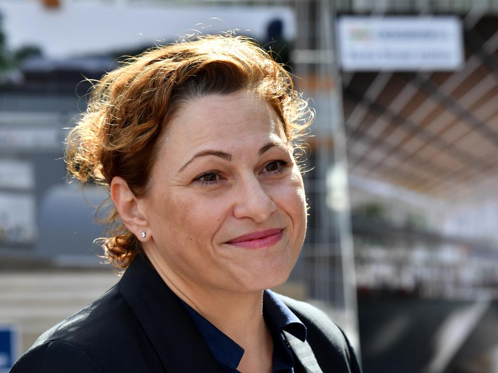 Deputy Premier Jackie Trad is facing a major challenge to hold her seat at the next state election from the surging Greens and wants to make climate change a major focus. Picture: AAP Image/Darren England