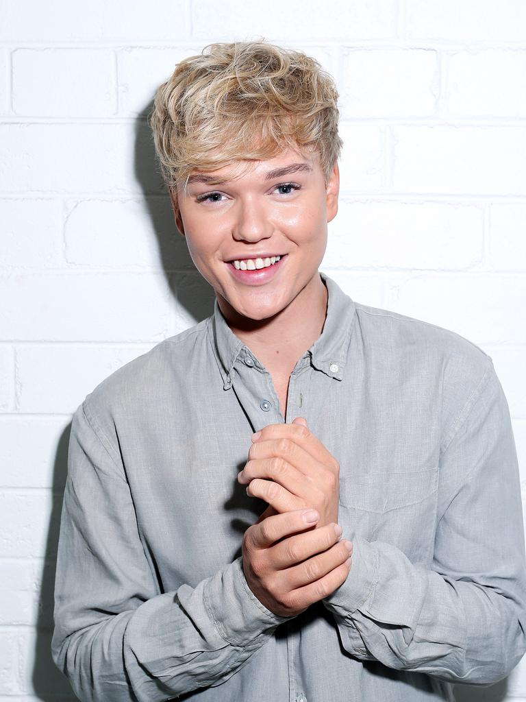 Jack Vidgen shows off his new look. Picture: Tim Hunter.