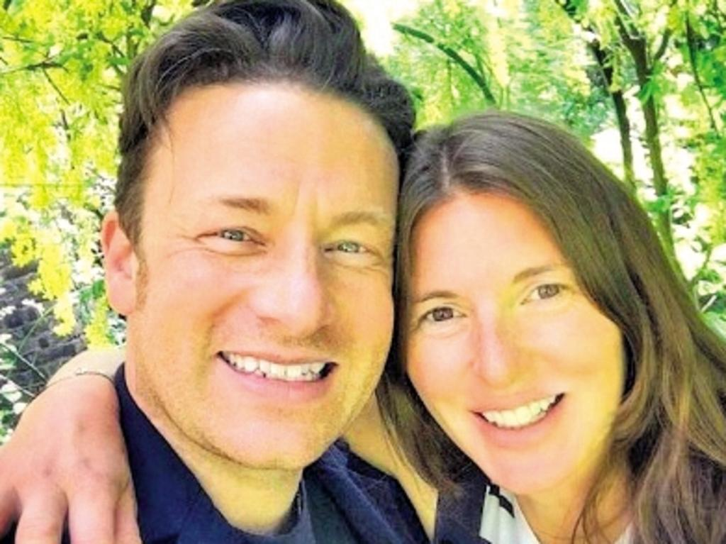 Jamie Oliver and wife Juliette Norton. Picture: Supplied