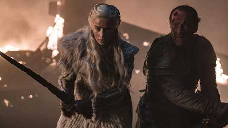 Jorah's end came when he fought the White Walkers alongside his queen. Picture: HBO