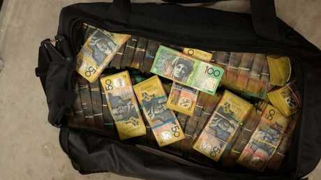 The AFP seized about $8 million in cash from a Hoxton Park property. Picture: NSW Police