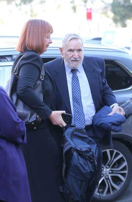 Frank Valentine arrives at Campbelltown court for sentencing. Picture John Grainger