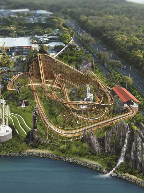 The new roller coaster will be 1km long and travel at 80km per hour