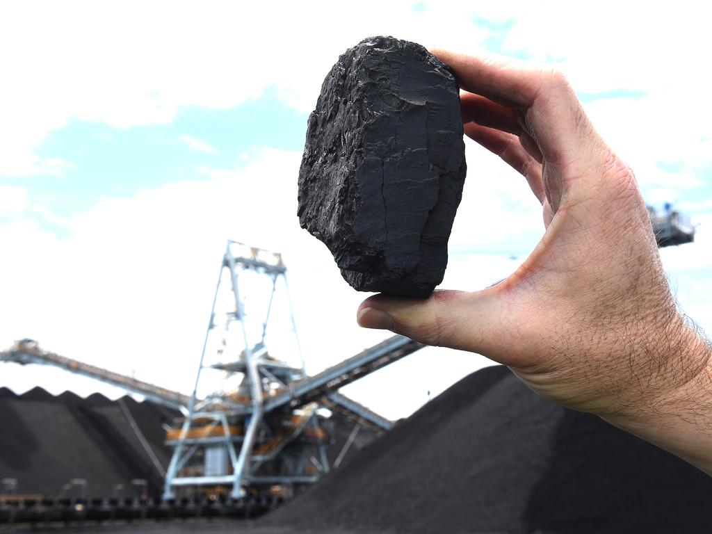 Coal at the Port of Brisbane. Picture: AAP image/John Gass