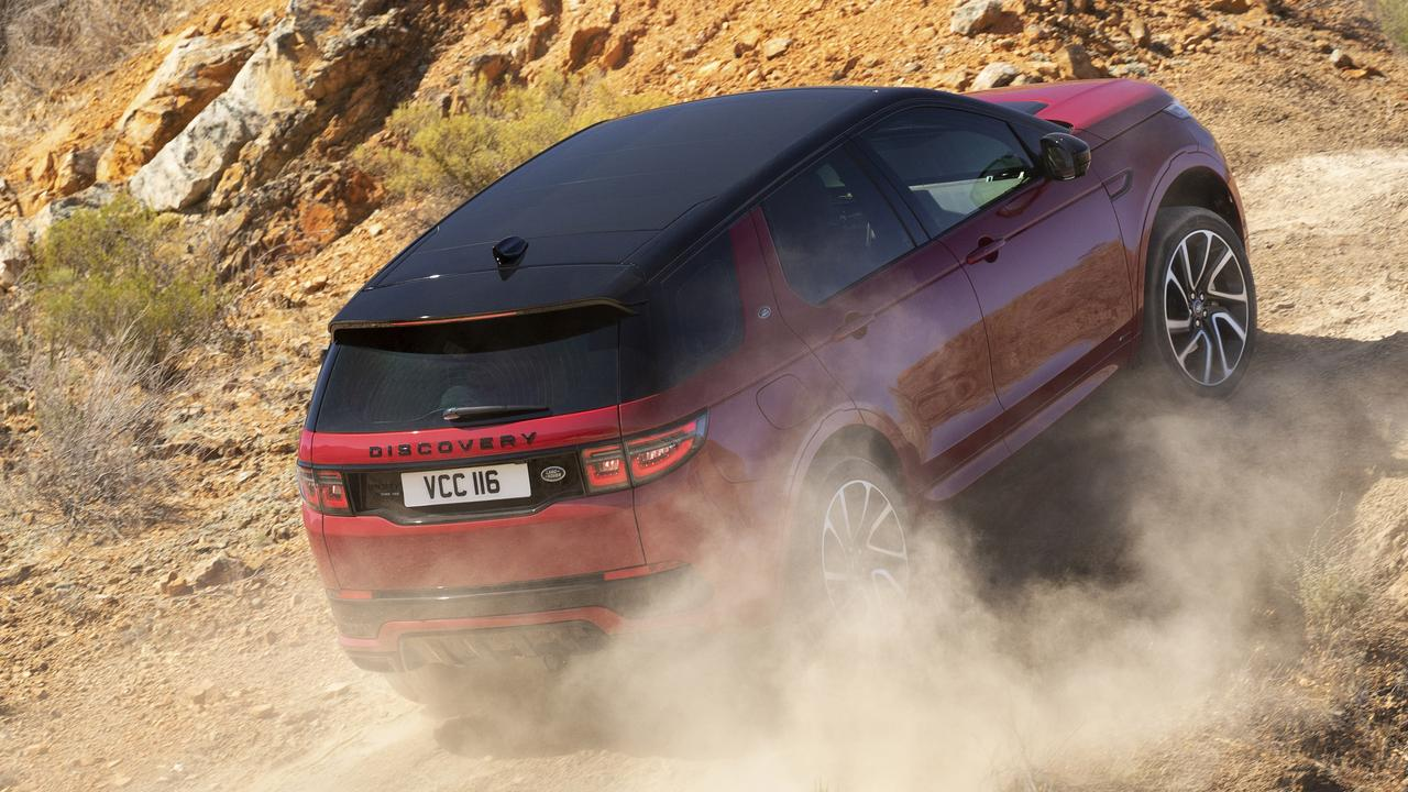 Despite the lack of a big burly engine the Discovery Sport is still capable off-road.