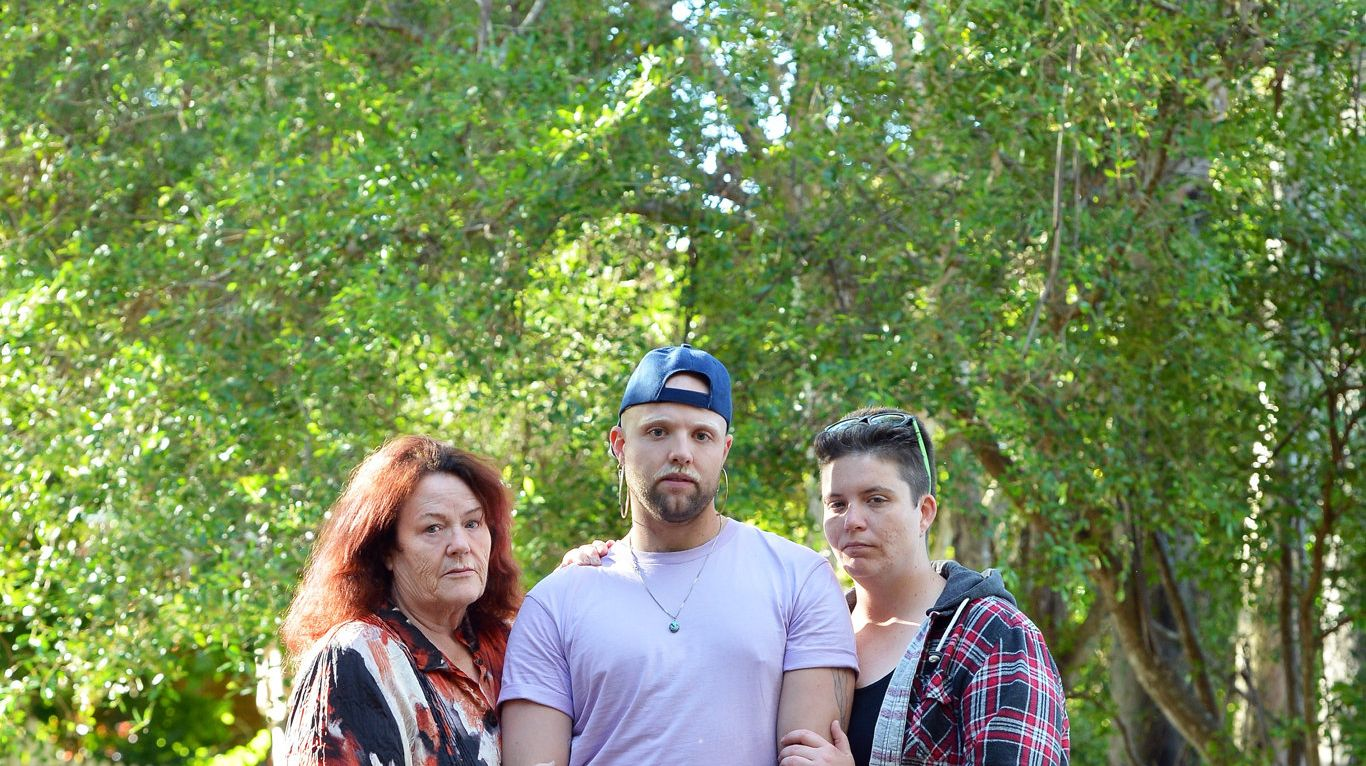 STRONGER TOGETHER: Ryan Forbes' life was changed when he read about Lloyd Copper, a proud gay man took his life recently due to bullying. Ryan was inspired to reach out to Lloyd's mum Barbara Copper and his sister Mary Copper.