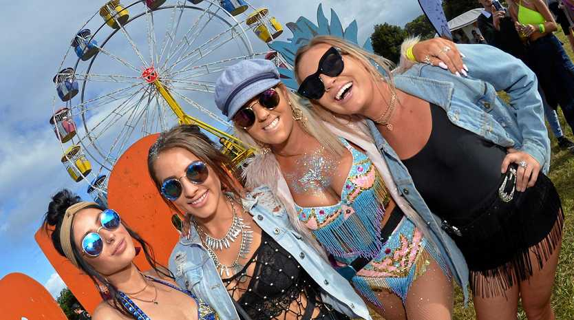 The Big Pineapple Music Festival 2018. Zoe, Jesse, Taylor and Morgan.