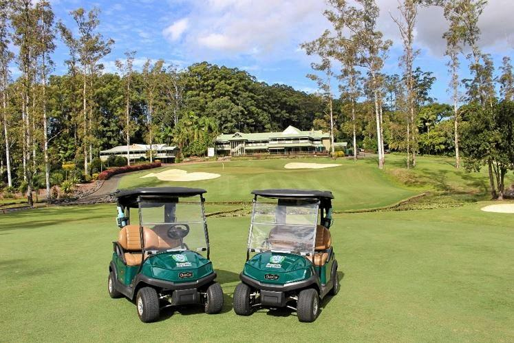 FRESH WHEELS: The new carts at the Bonville Golf Resort have created a buzz around the members and visitors.