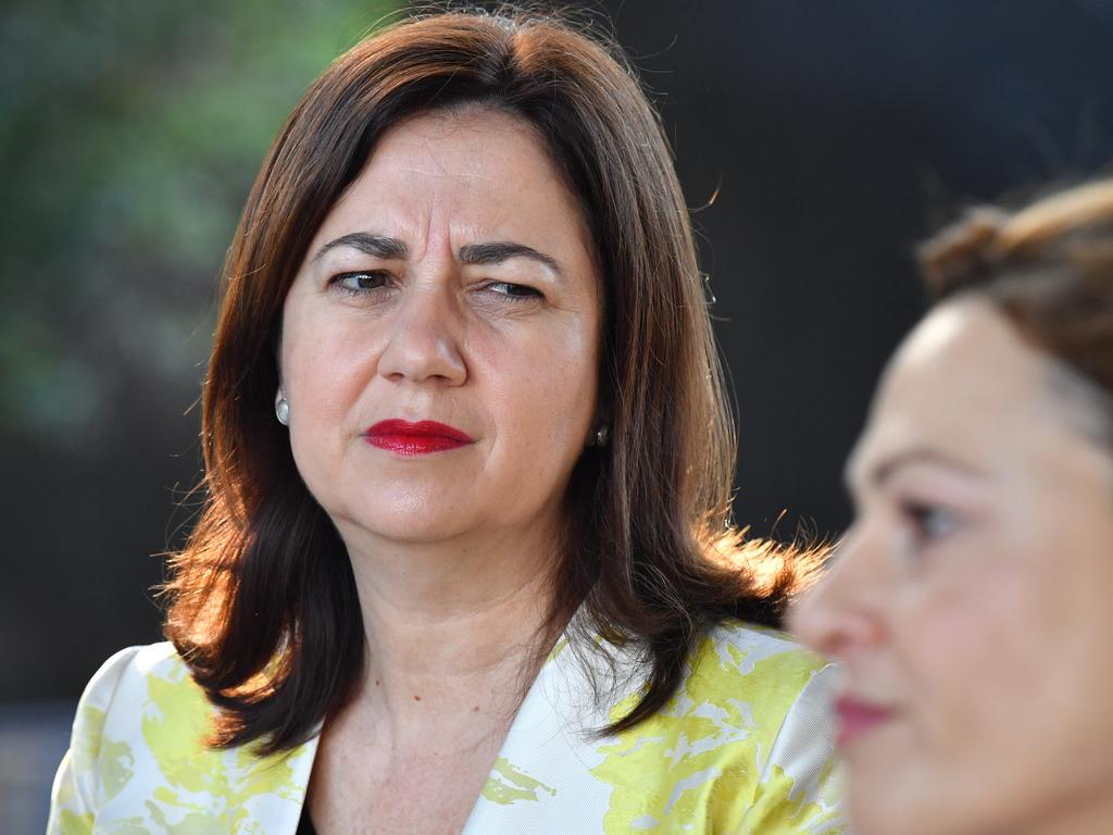 Queensland Premier Annastacia Palaszczuk (left) and Deputy Premier and Treasurer Jackie Trad (right). Picture: AAP Image/Darren England