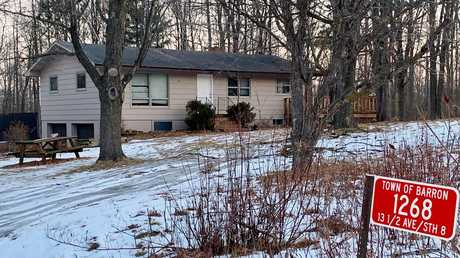 The home where teenager Jayme Closs lived with her parents pictured in January this year. Picture: AP/Jeff Baenen.