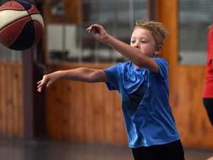 Brian Kerle basketball clinic - Odin Hoffman.