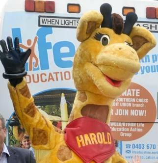 Healthy Harold from Life Education.