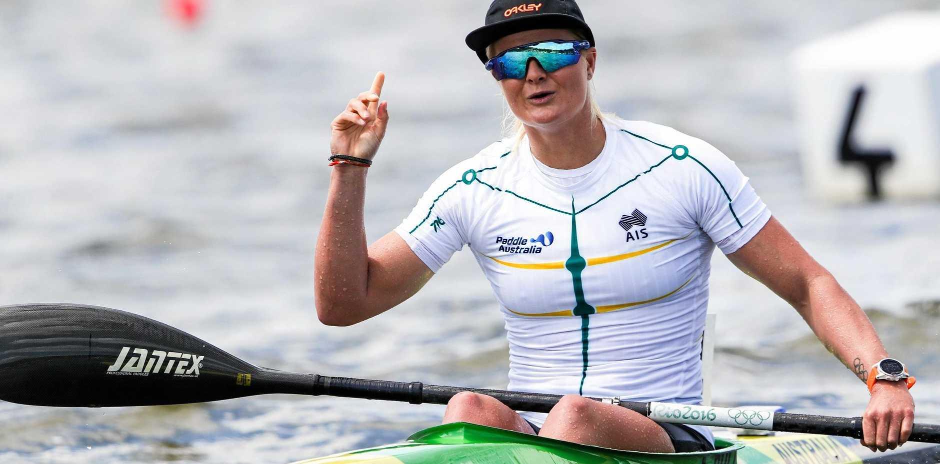 ON THE WATER: Alyssa Bull won the K1 1000.