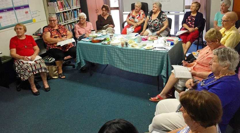 KEEPING SAFE: The Womens 50's Group at the Womens Health Centre listen intently at the Mater Rockhampton's presentation to prevent falls.
