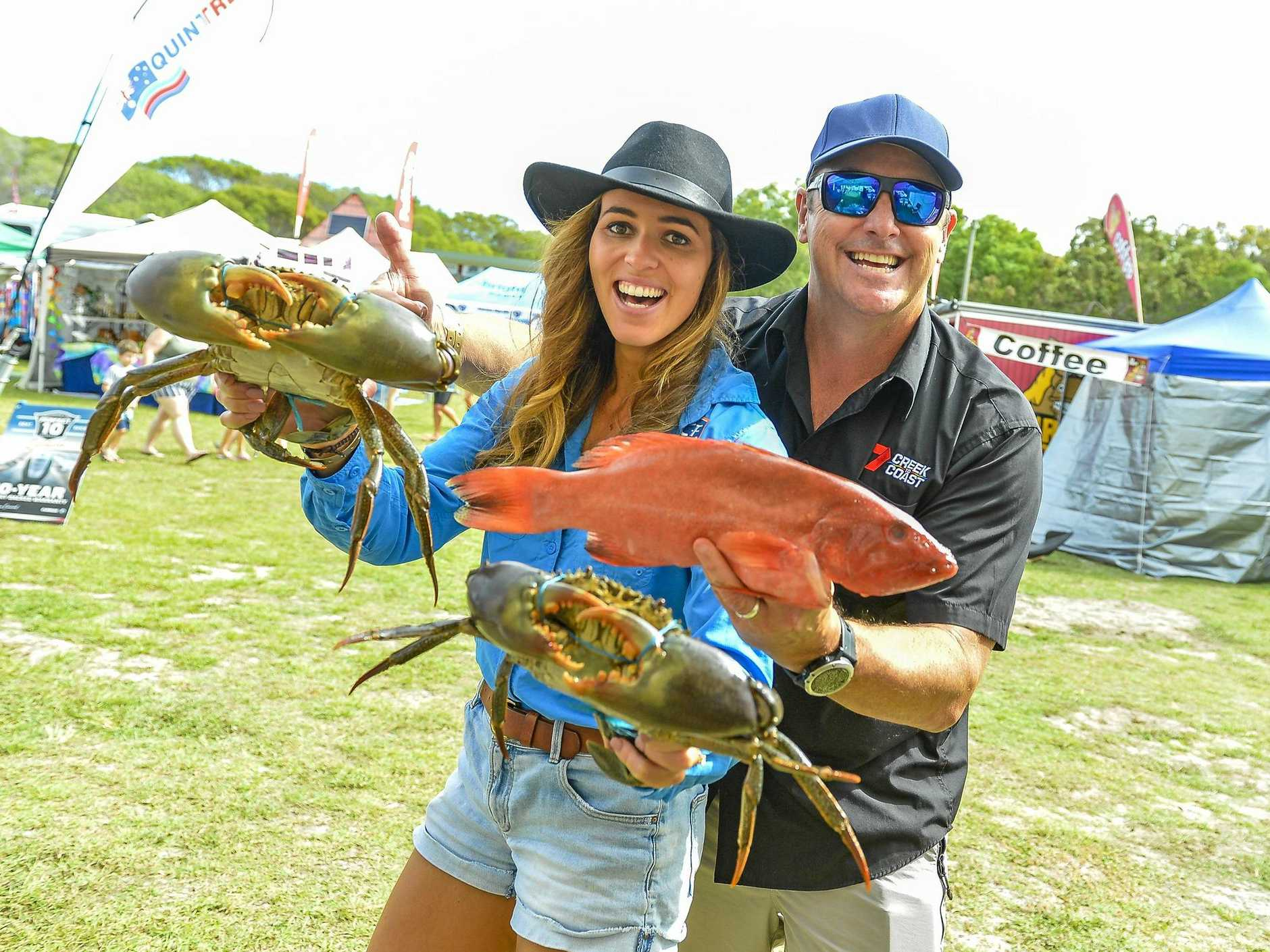 Olivia Degn and Scott Hillier at day 2, Saturday 25 May of the 2019 Gladstone Region 1770 Festival, held at the 1770 SES Festival Grounds.