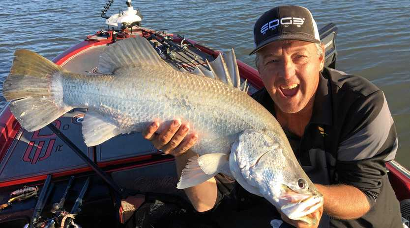 GREAT CATCH: Despite windy conditions, Craig Griffiths and Karim De Ridder won the 2019 Fitzroy River Barra Bash fishing tournament after catching 11 fish which measured 7.7 metres at Port Alma.