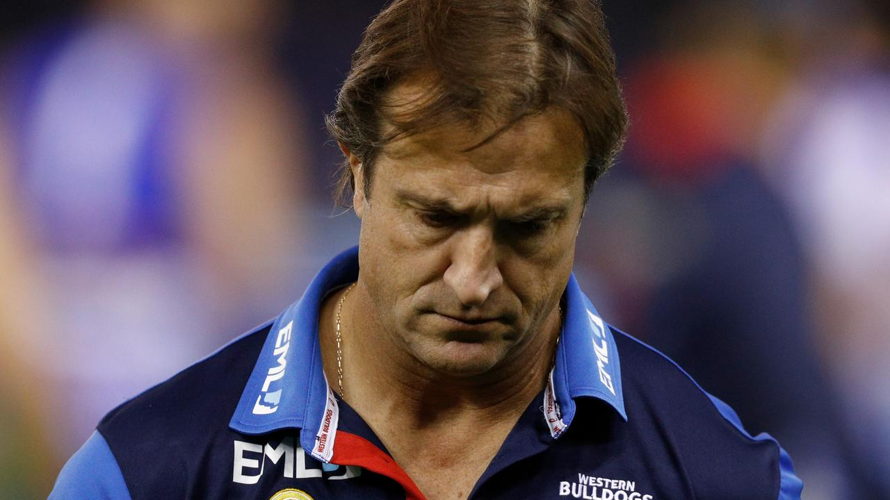 Luke Beveridge's Bulldogs have been inconsistent this season. Picture: Getty