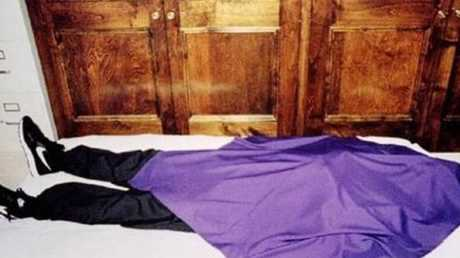 Members were found dead covered in purple sheets and wearing a pair of Nike Decades.