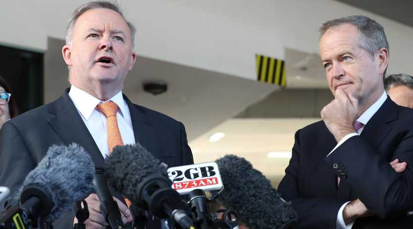Former Labor Leader Bill Shorten was never betrayed by his right hand man, Anthony Albanese. Picture: Liam Kidston