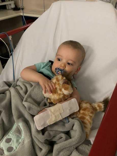 Blake in hospital.