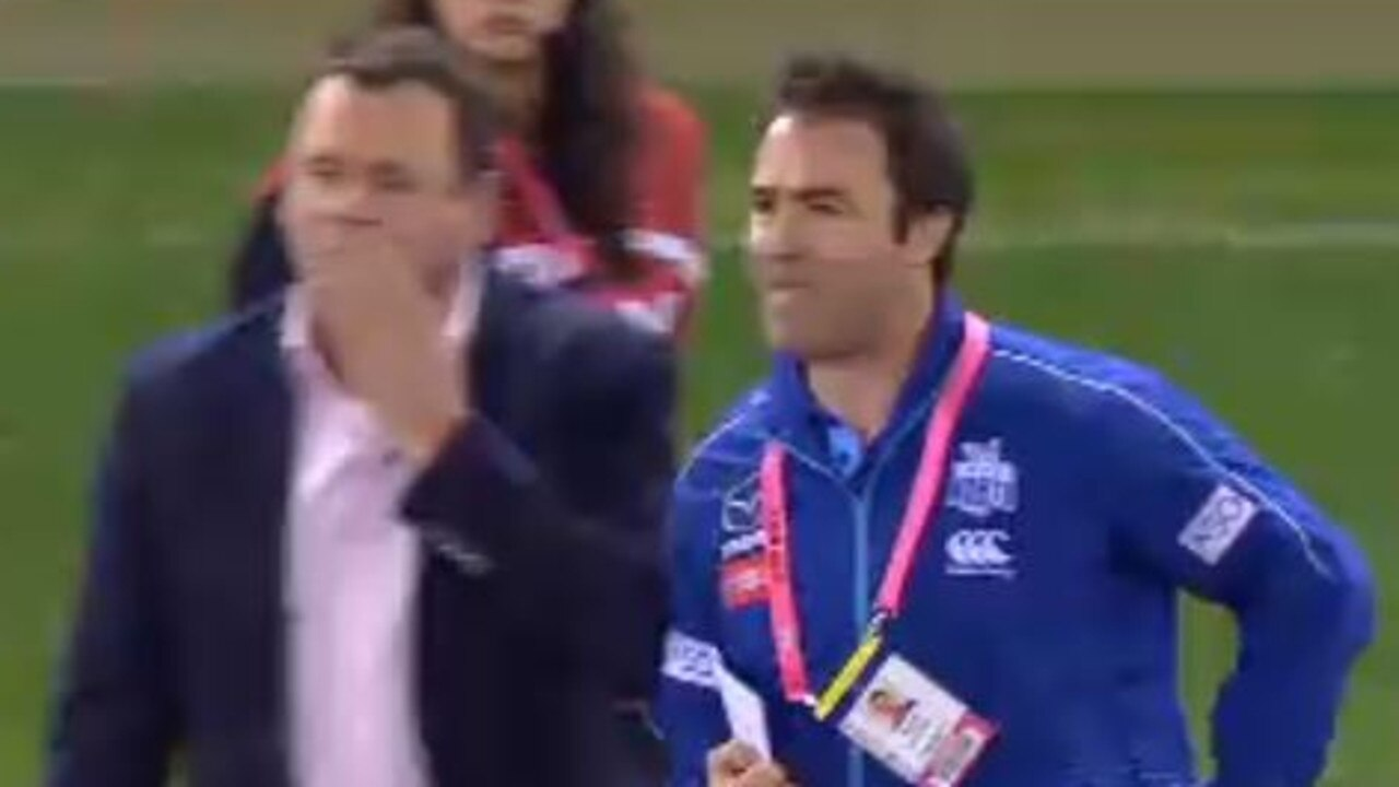 Brad Scott directs his fury at David King.