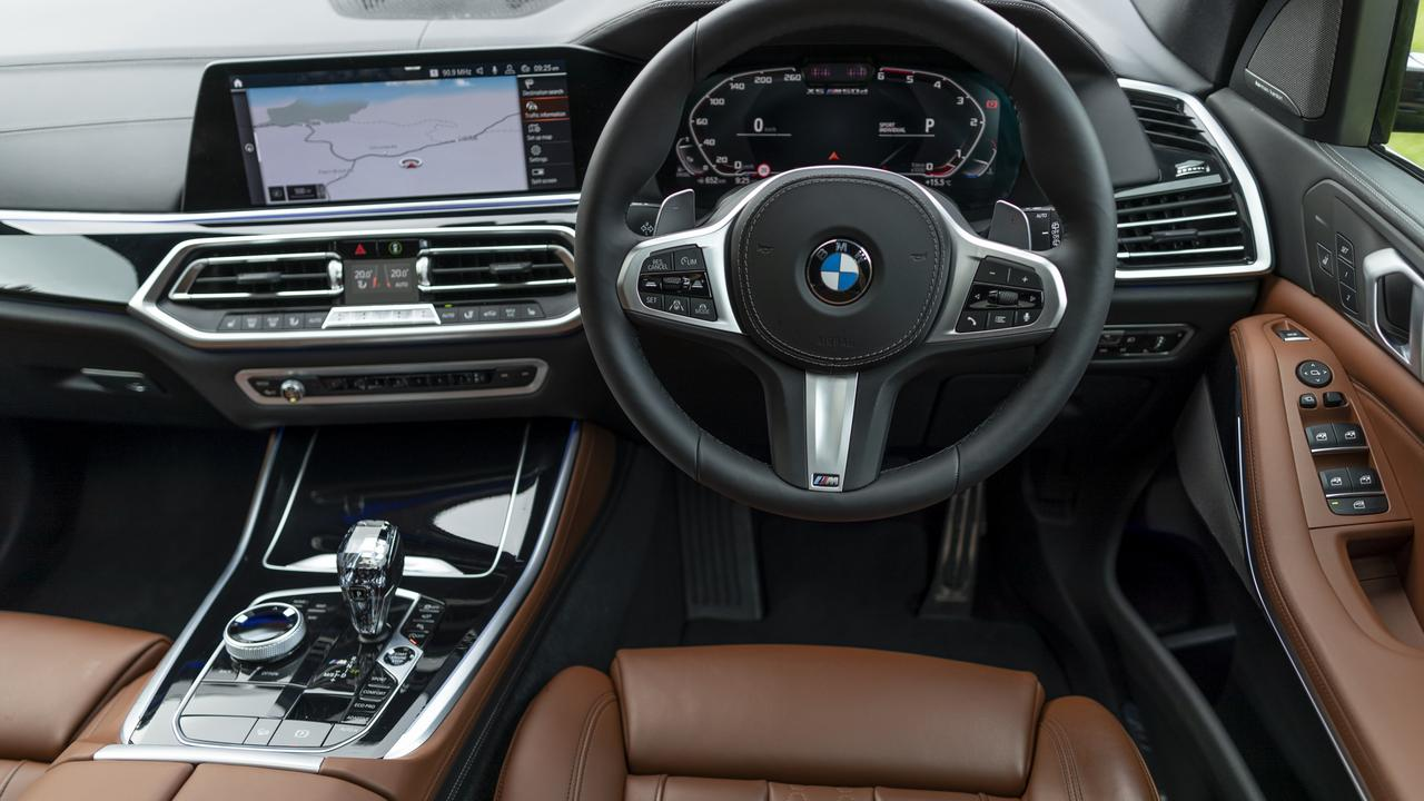 The interior of the X5 is a polished environment.