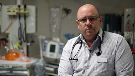 Dr Simon Judkins has worked in Melbourne emergency departments for 20 years, he estimates nine out of 10 physicians have been assaulted at work but violent incidents are severely underreported. Picture: Supplied