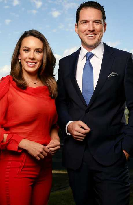Peter Stefanovic First Edition co-anchor Laura Jayes. Picture: Jonathan Ng