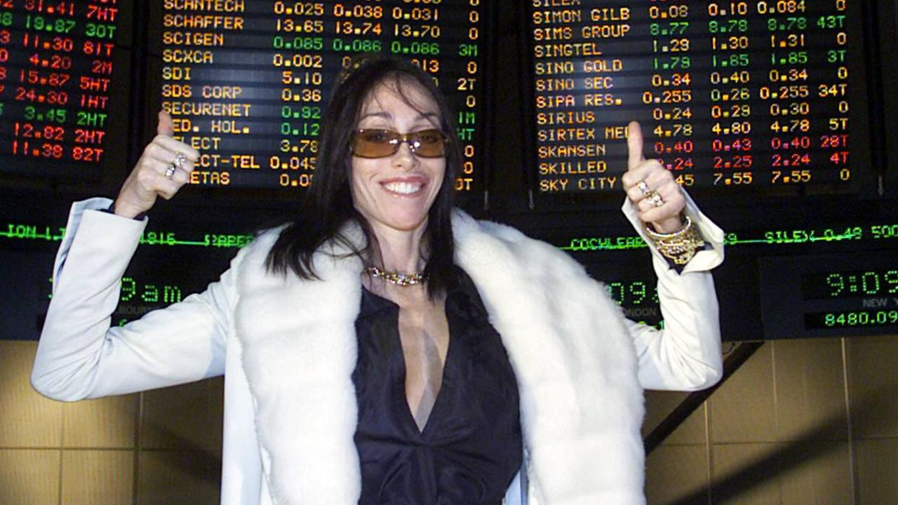 Notorious madam Heidi Fleiss in Melbourne for the launch on the Australian Stock Exchange of the Daily Planet. File picture
