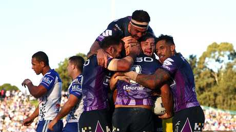 Melbourne ran riot at Belmore Oval. Picture: Cameron Spencer