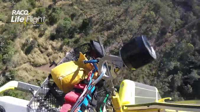 WATCH: LifeFlight winches hiker from Table Top