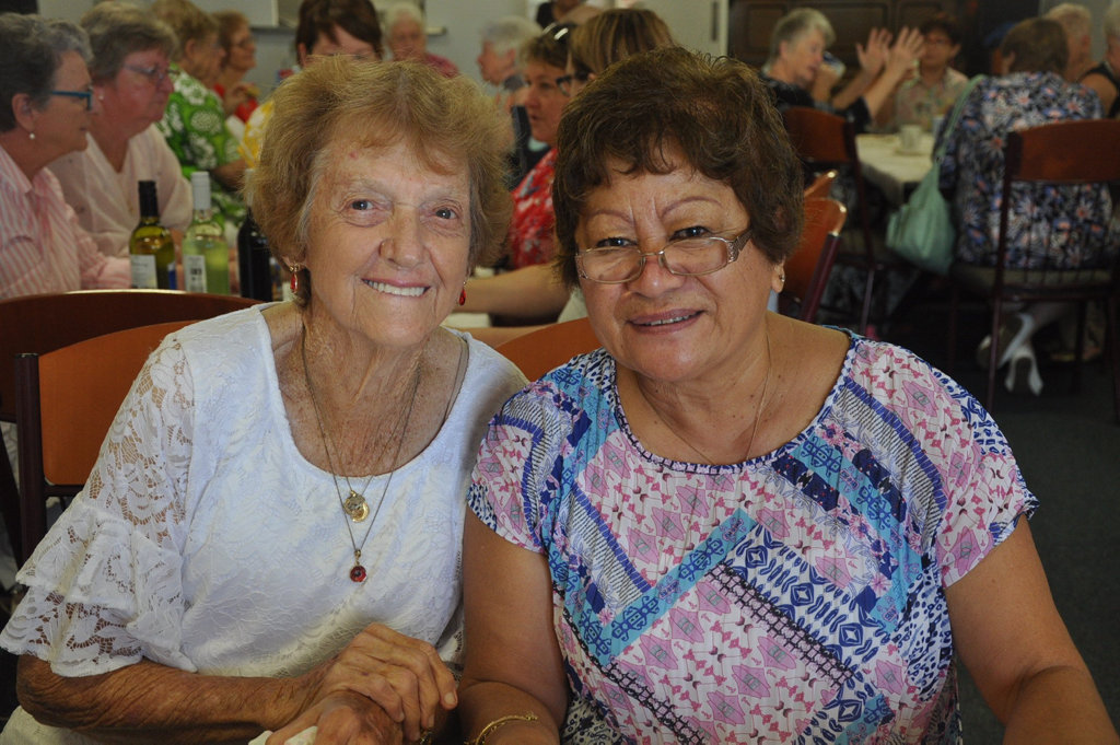 Image for sale: Evelyn Daly and June Tahu at Yeppoon RSL for the Lioness Great Australia Morning Tea