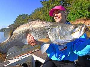 Monster 90cm barra snared by Coolum fishing guru