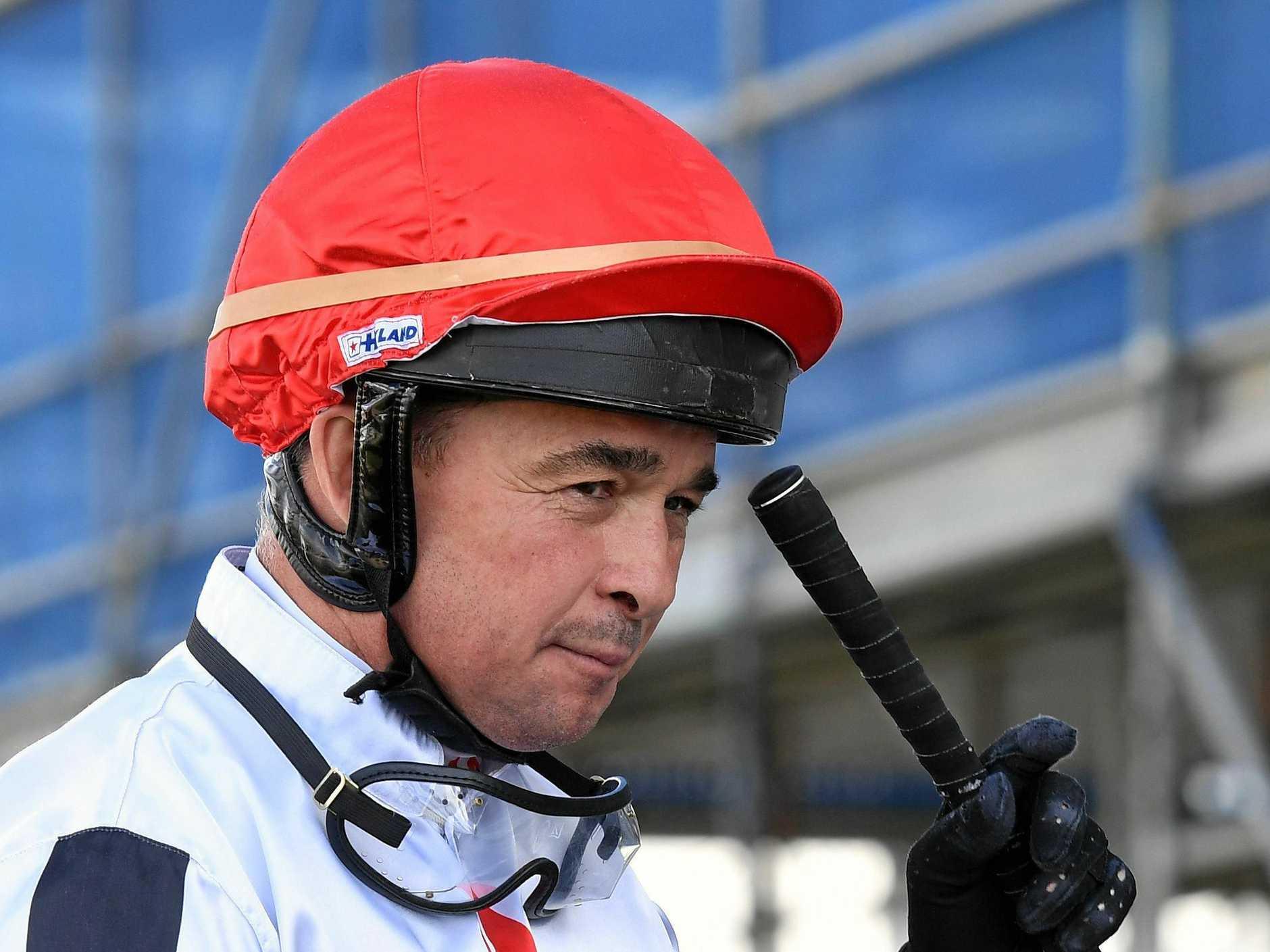 Ditmas won the Falvey's Grand Hotel Class 4 race at Ipswich Racetrack on Friday. Jockey Jason Taylor.