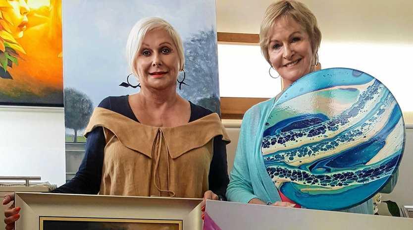 SALE: Artists Helen Peel and Clare Riddington Jones.