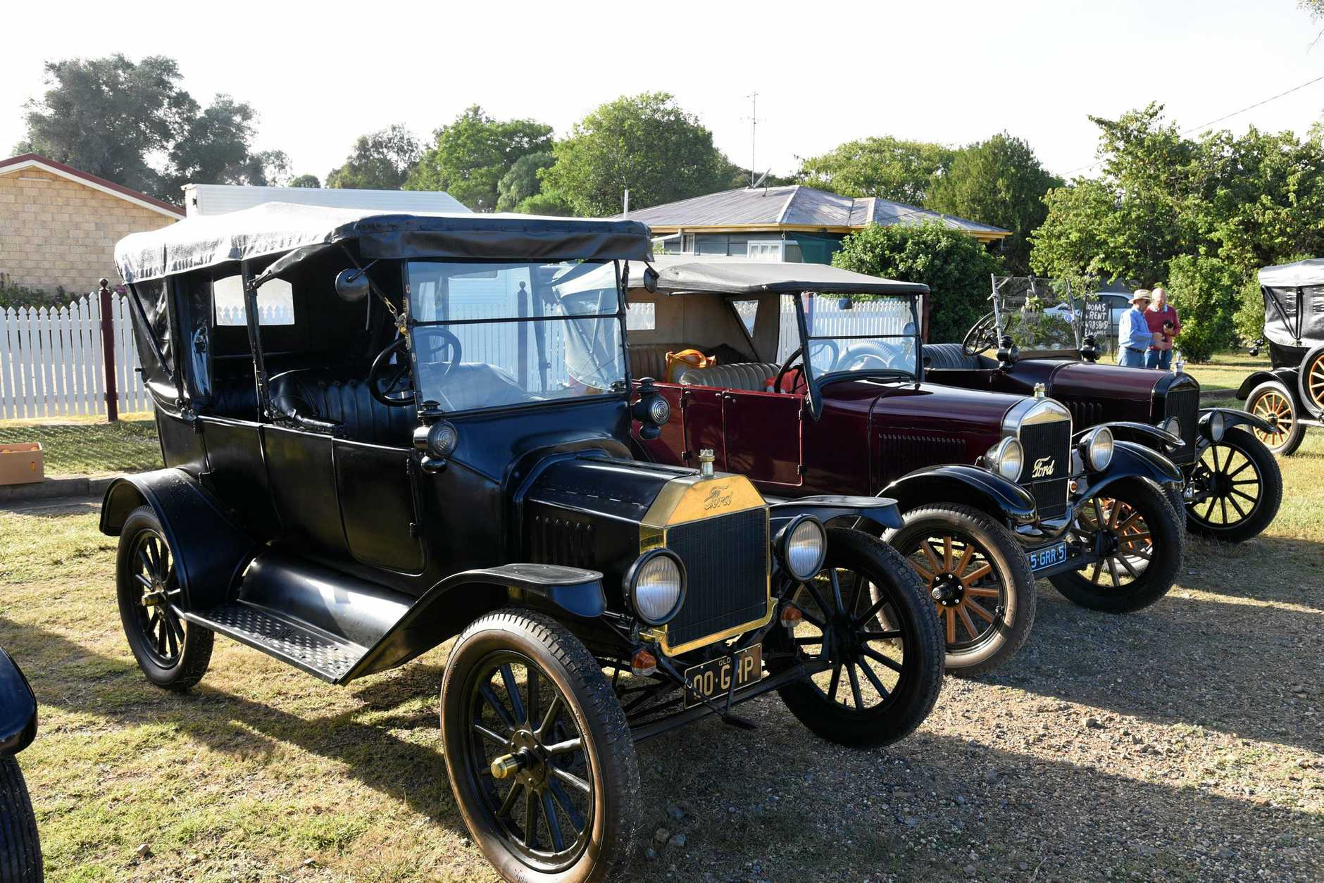 Ford Model T's at the Model T Owners Queensland club meeting on Mundubbera on the weekend.