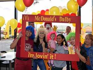 Dalby McDonald's renovation reveal party