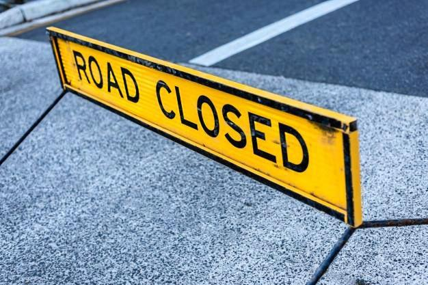North Bank Road will be closed until Thursday.
