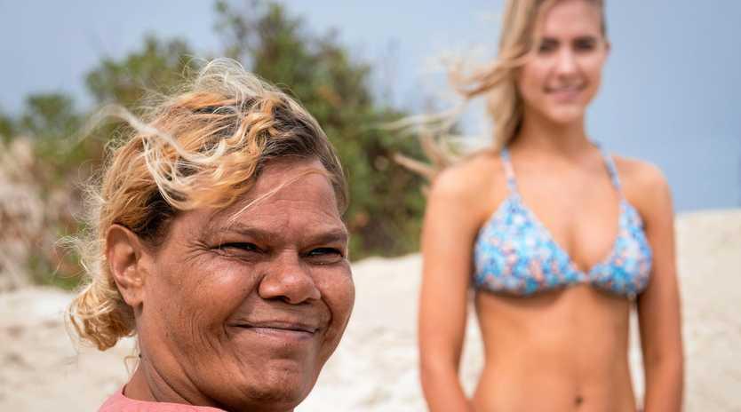 UNIQUE STYLE: Grace Comeagain created the authentic Aboriginal artwork featured on Sheila Bikinis.