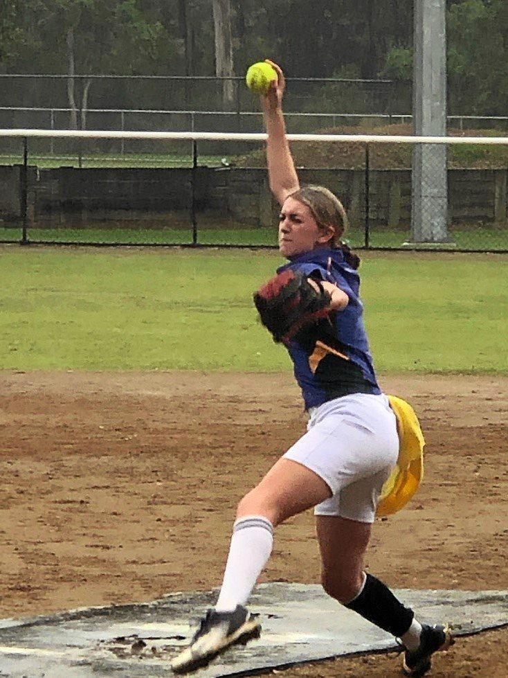 St Peter Claver softballer Tanika Harris.